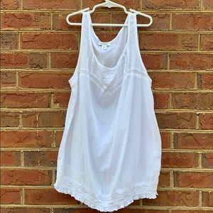 Tops - Old Navy white see through tank top